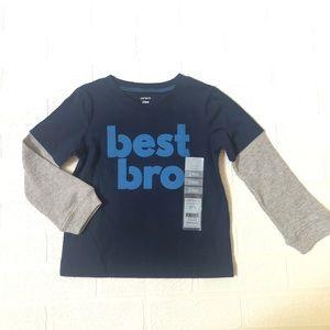 NWT Carter's Best Bro Shirt